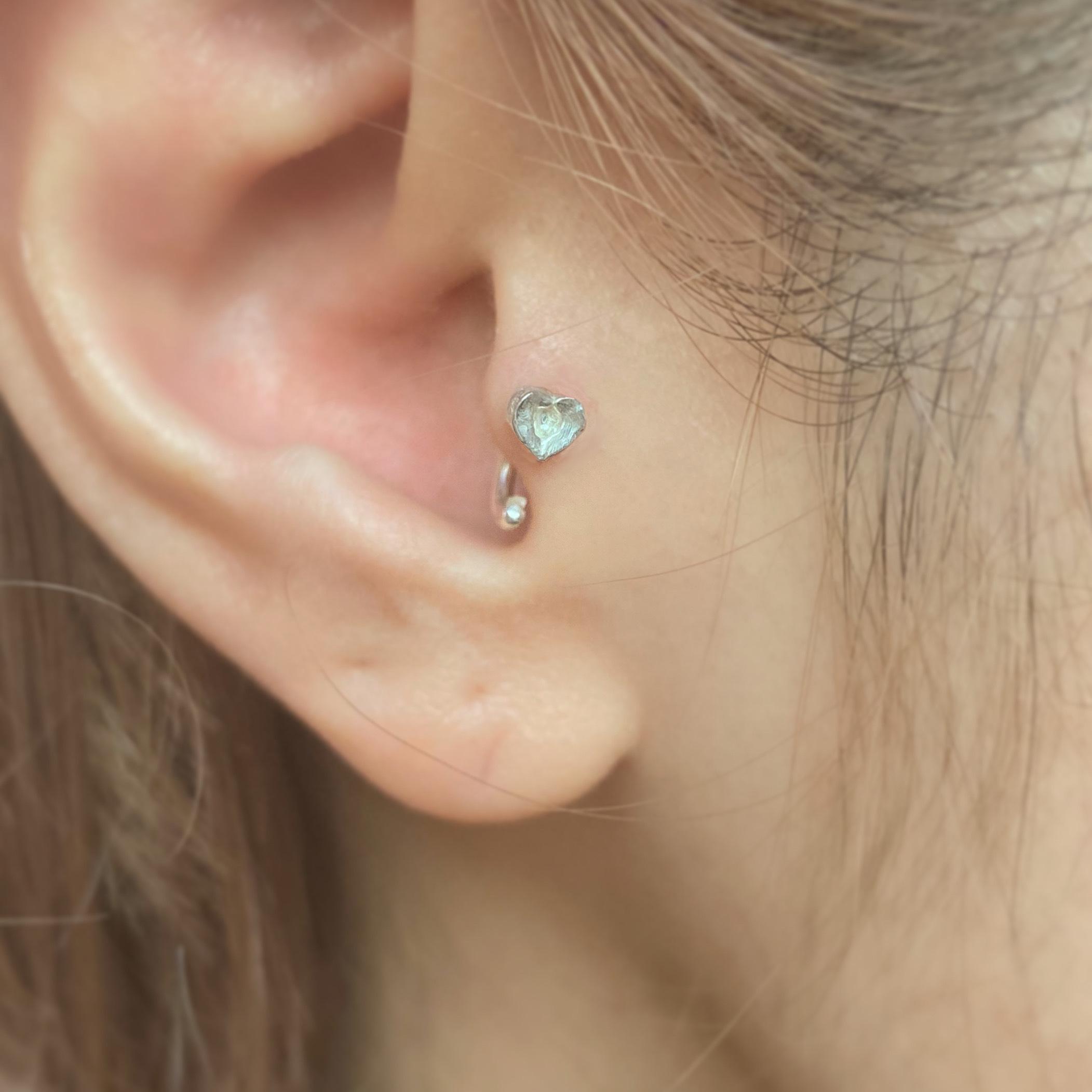 桃のbody earring silver925  14G #LJ20030P  16G #LJ20029P  18G #LJ20028P