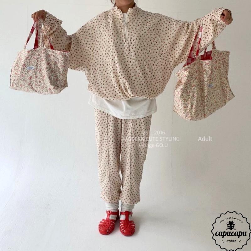 «sold out»«mom»  go.u flower pants フラワーパンツ ママサイズ