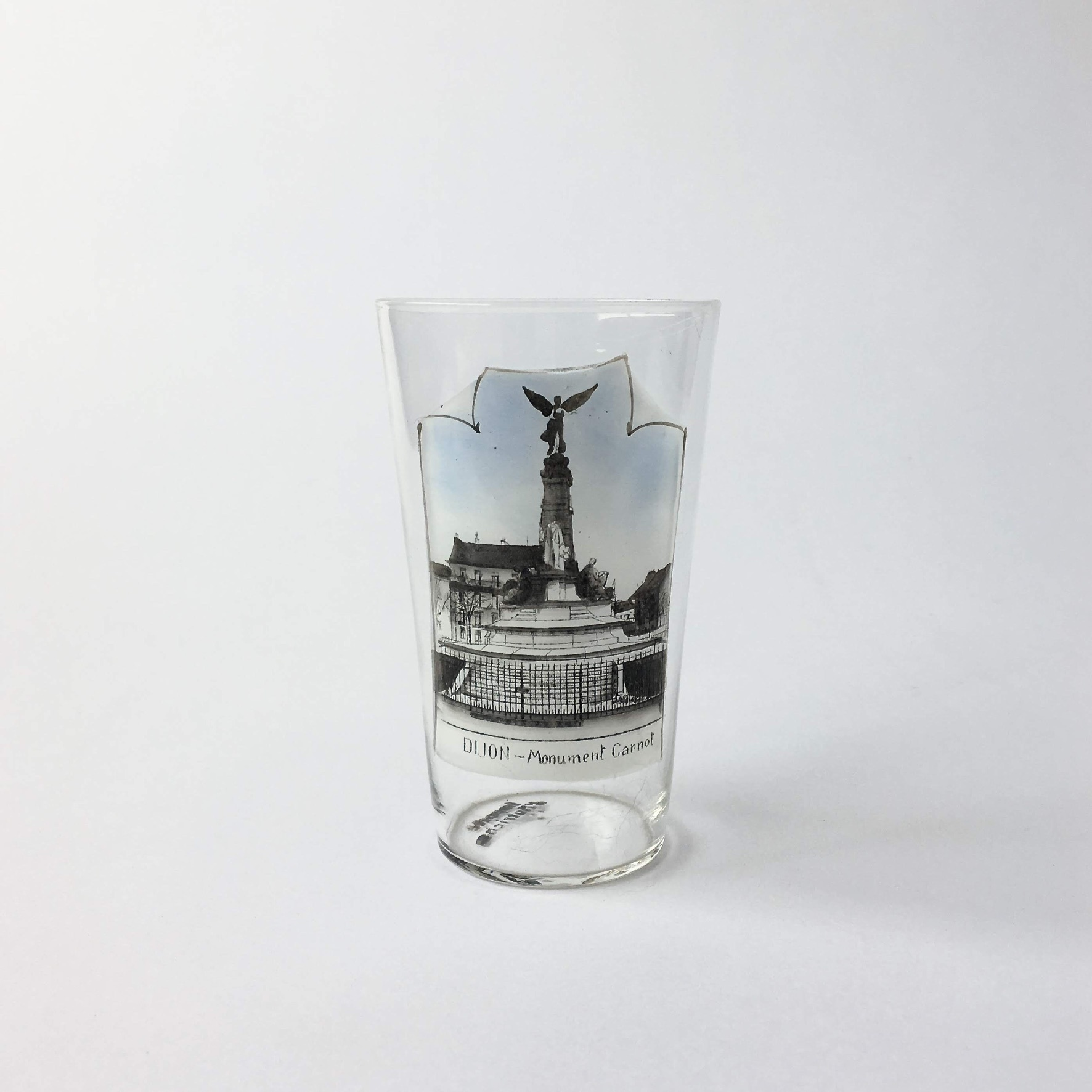 """ヴィンテージ スーベニア グラス「カルノーの記念碑」 Vintage Souvenir Glass """"Monument Carnot"""""""