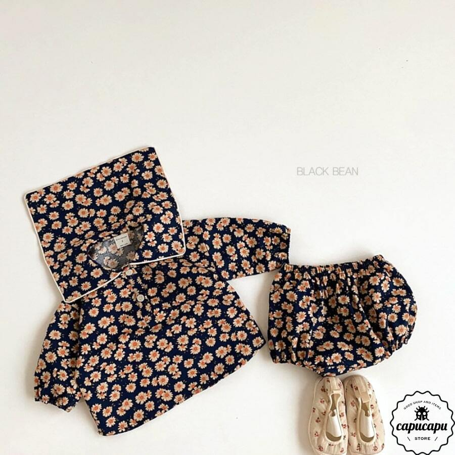 «sold out» flower bloomer set 2colors ブルマセットアップ