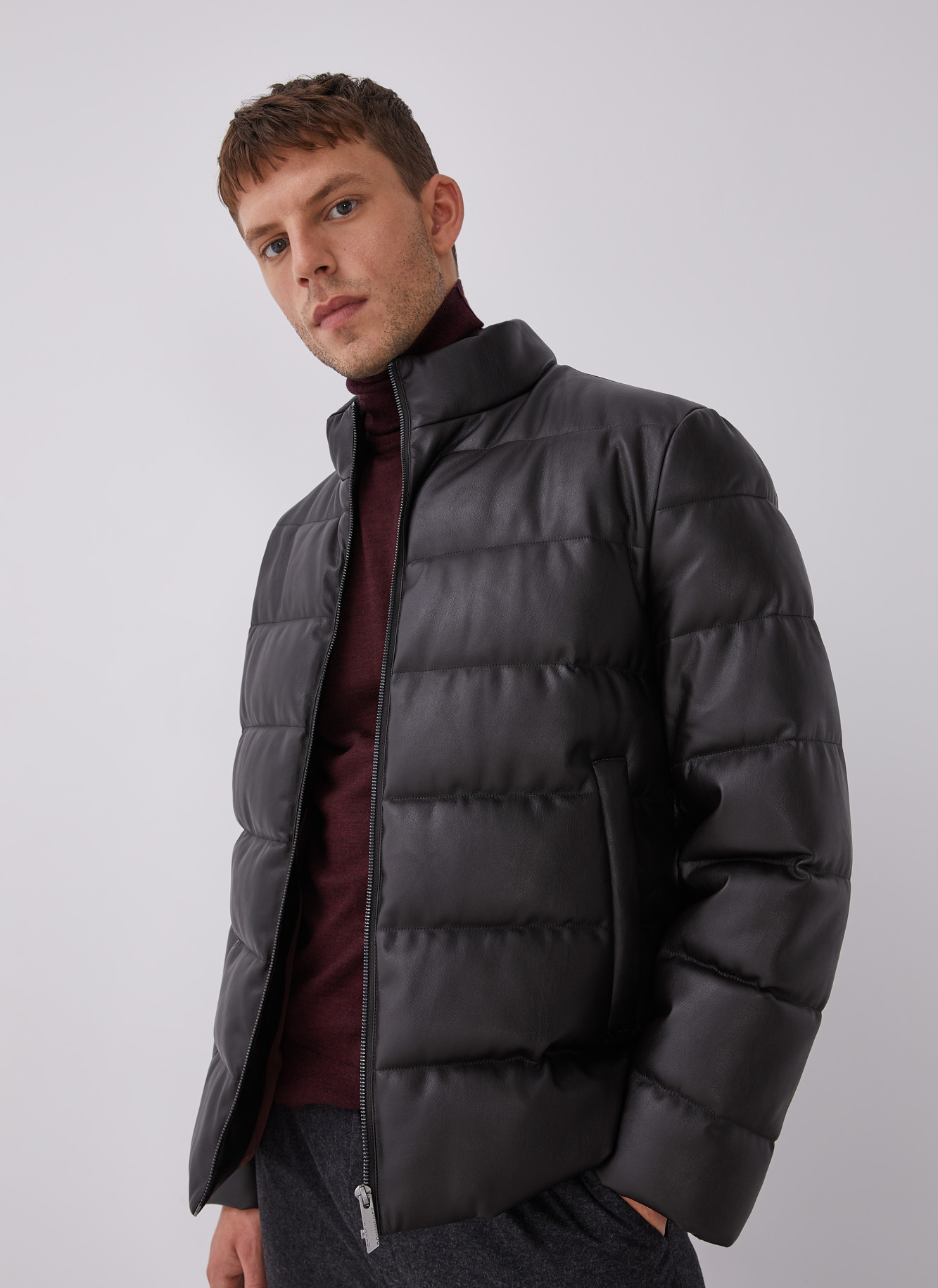 PADDED JACKET WITH ECO LEATHER