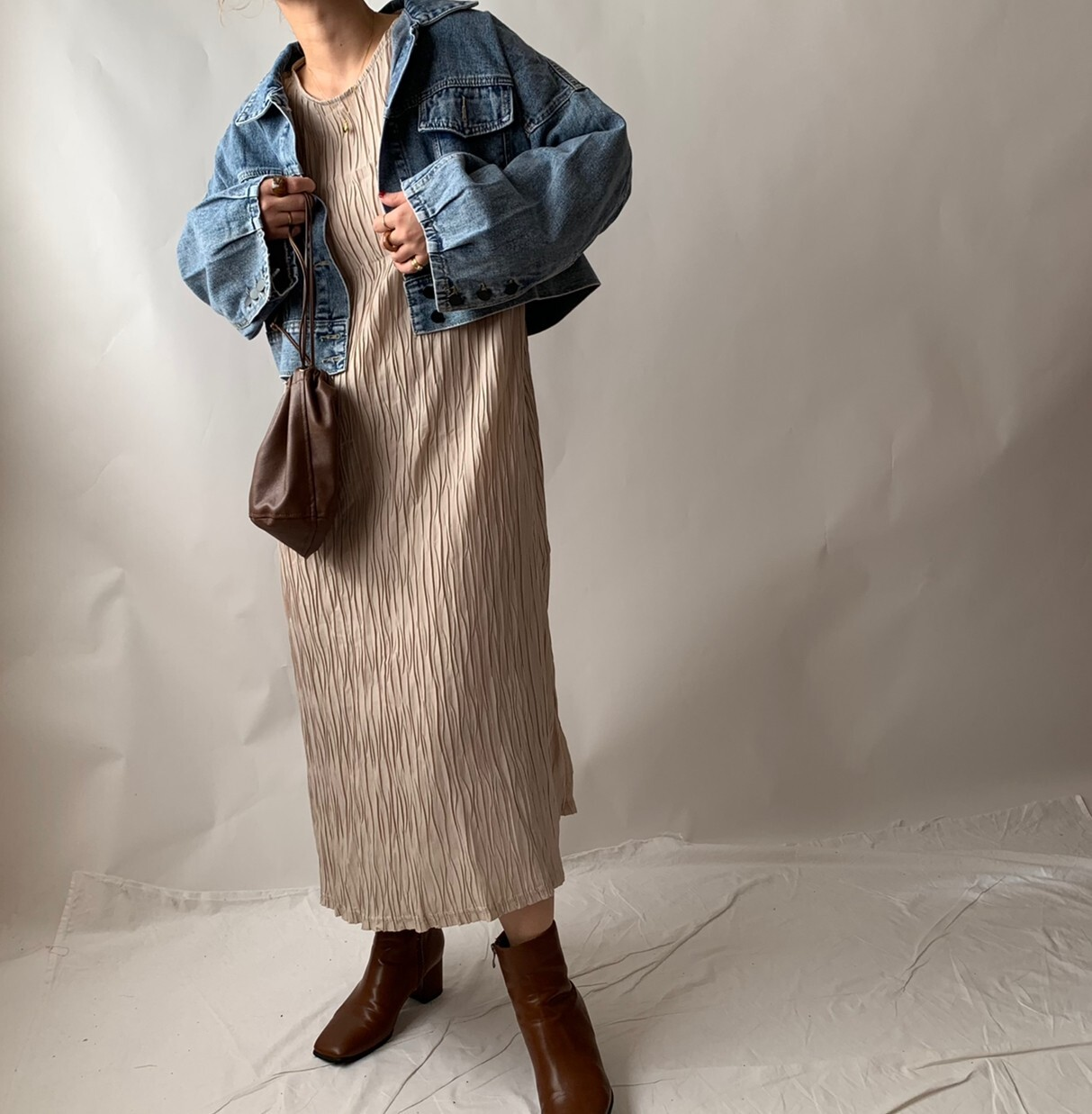 【asyu】short denim jacket