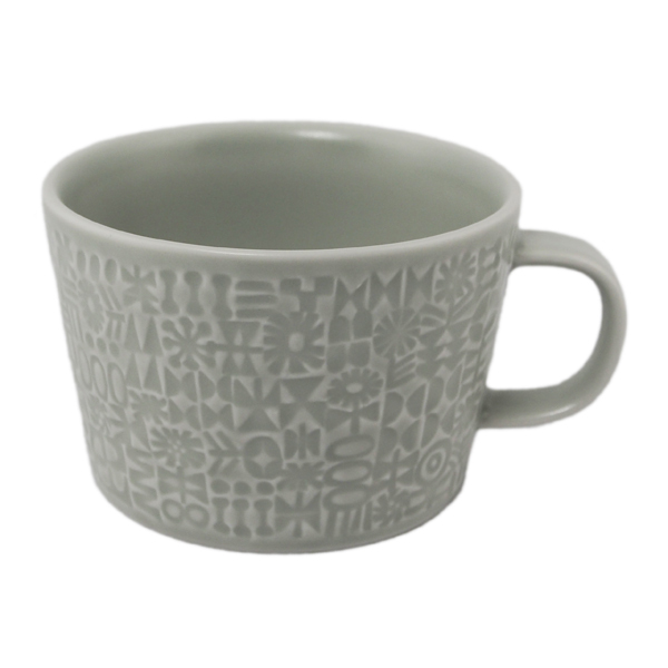 BIRDS' WORDS Patterned Mug morning mist