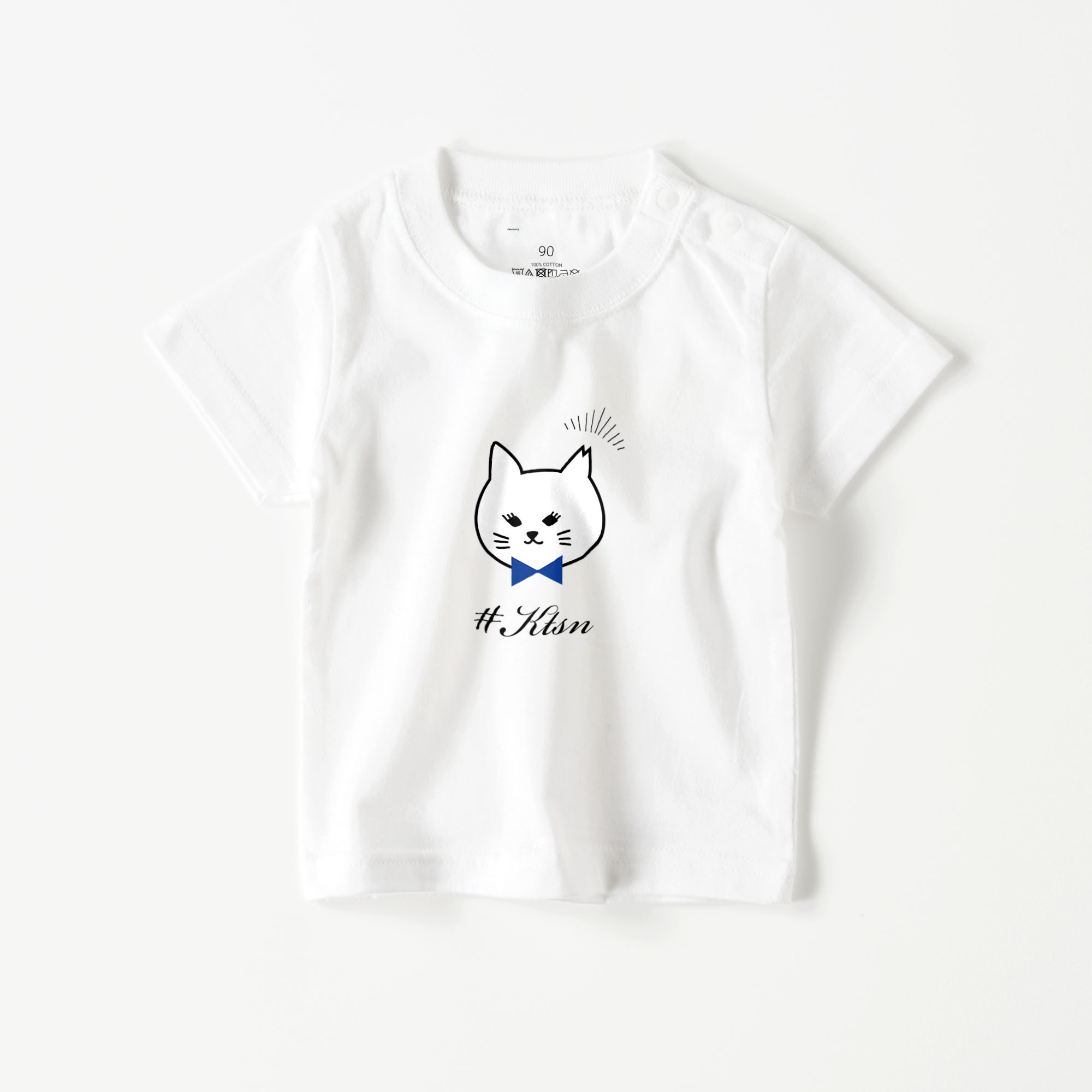 #KTSN×kaco 白猫ベビーTシャツ