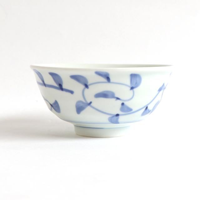 ろくべい茶碗 大(口径12.2cm) たこ唐草【2075-6060】
