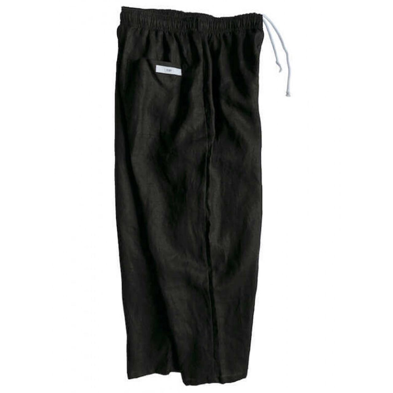 VOIRY SUNDAY PANTS-LINEN BLACK
