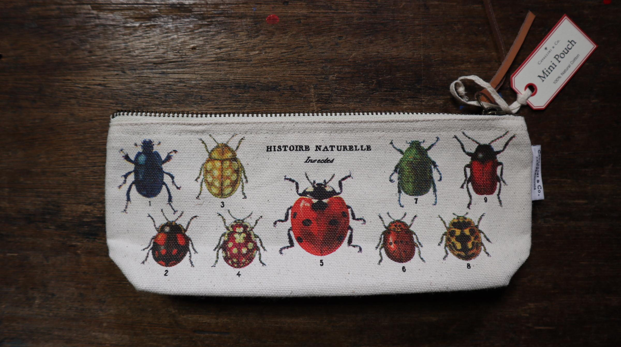 カバリーニ: スリムヴィンテージポーチ昆虫
