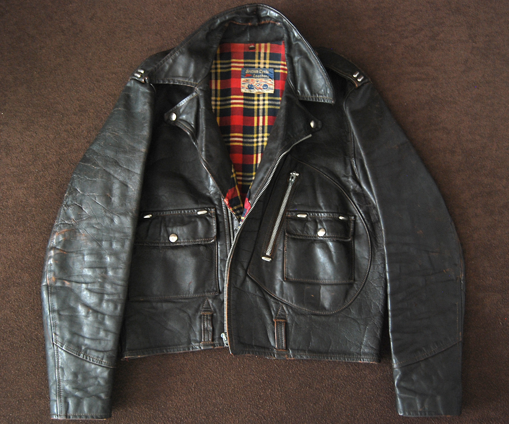 70s British Cycle Leathers Dポケット Wライダース