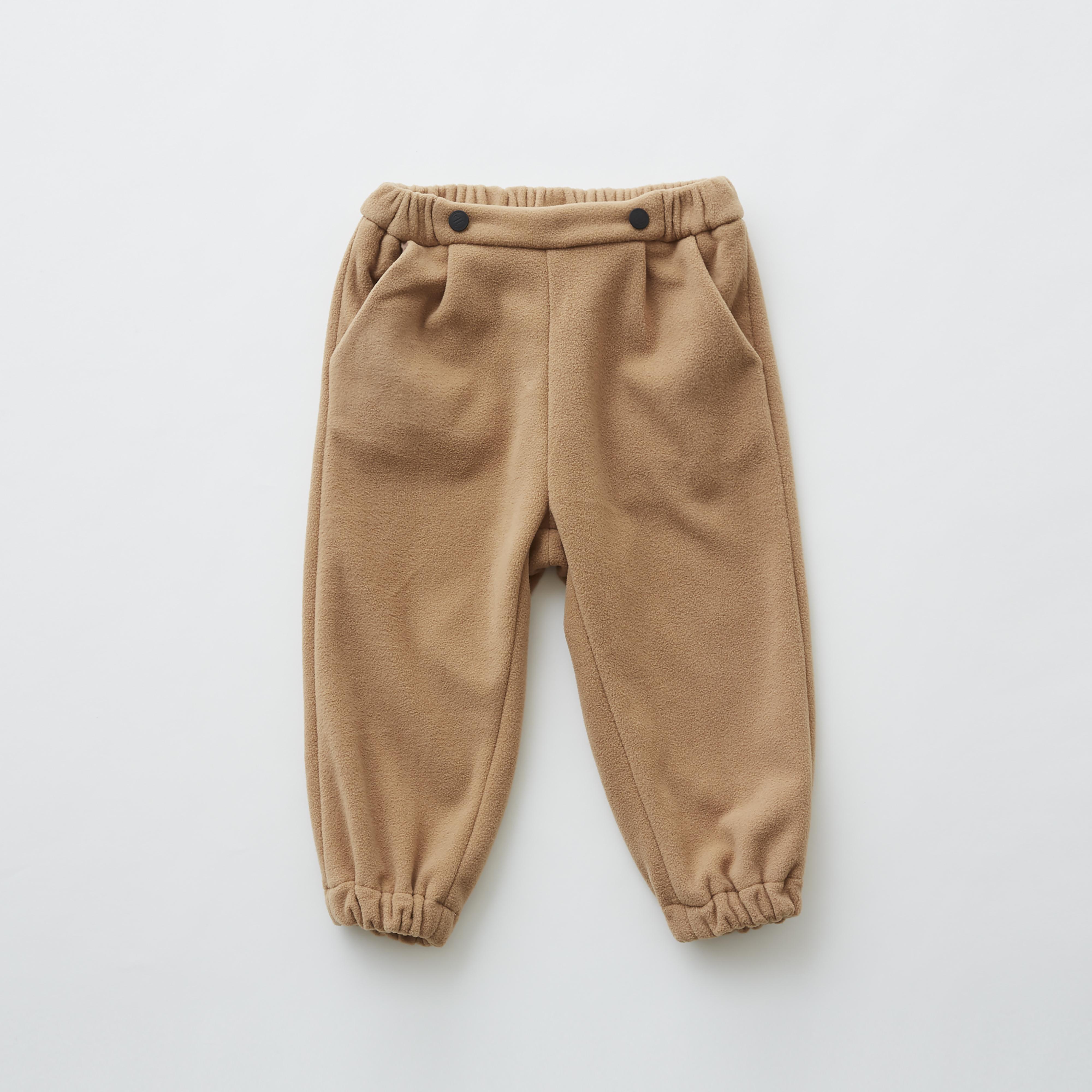 《eLfinFolk 2019AW》freece pants / beige / 80・90・100cm