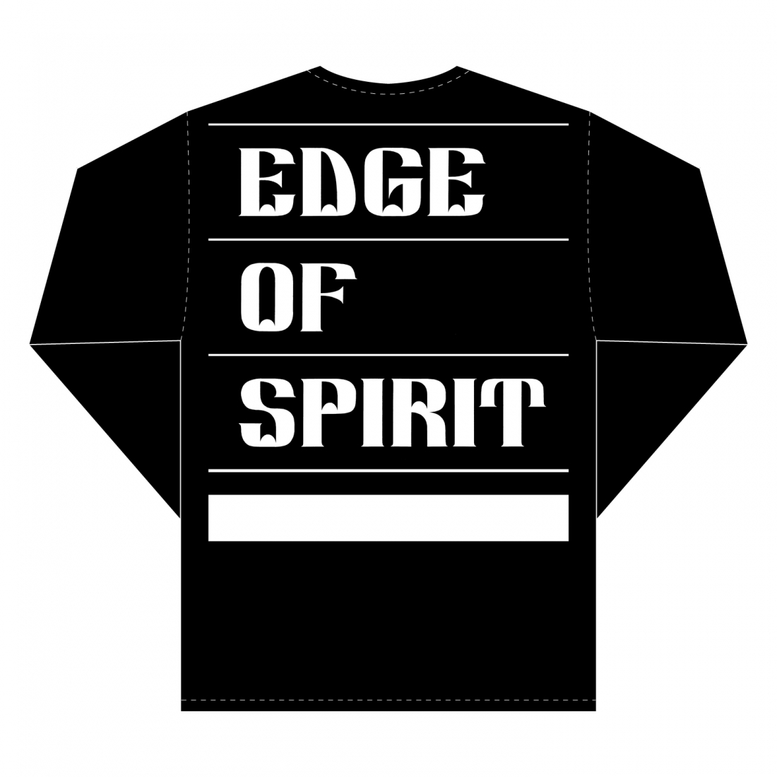 "EDGE OF SPIRIT ""QP"" L/S Tee [BLACK]"