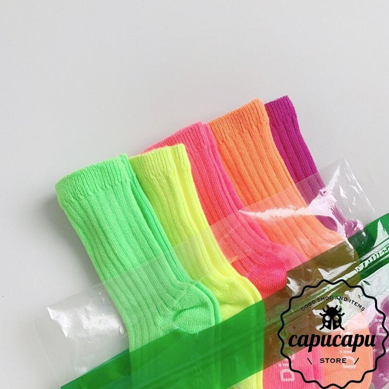 «即納»«5足セット» Neon Socks 5set ver.1 ネオン ソックス 靴下