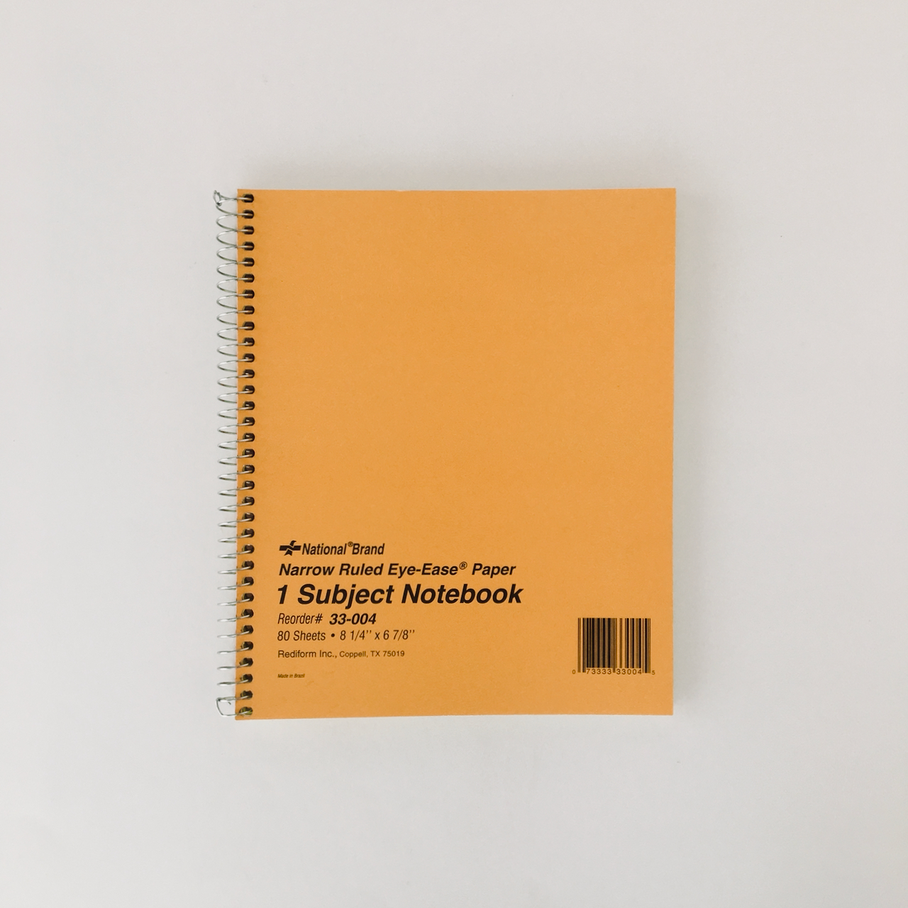 """Nationalノートブック(8 1/4"""" x 6 7/8"""" 1 Subject)