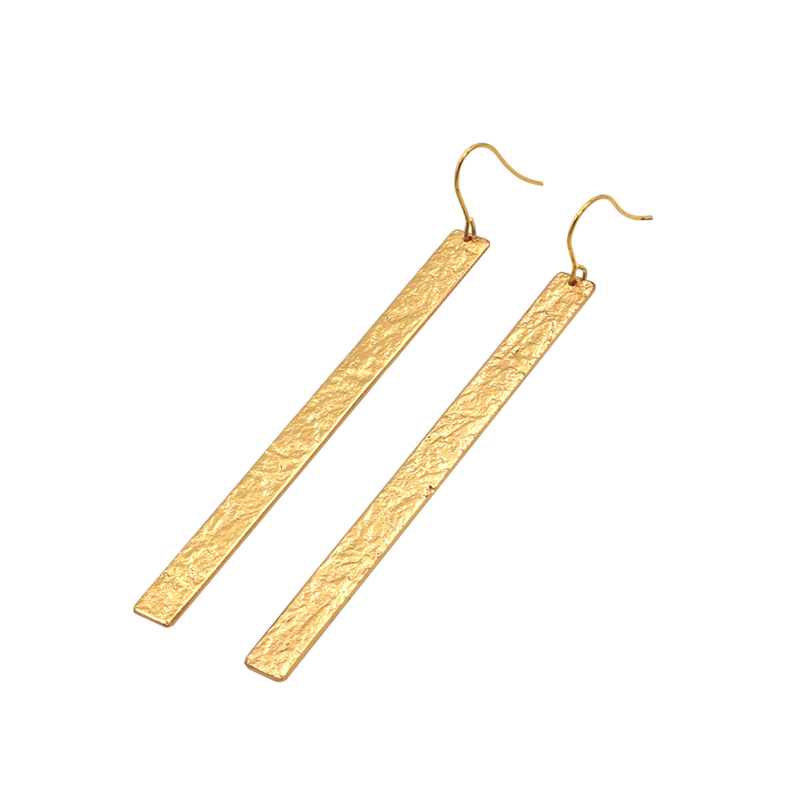 《ピアス 》TIN BREATH Pierced earrings  7×80mm Gold