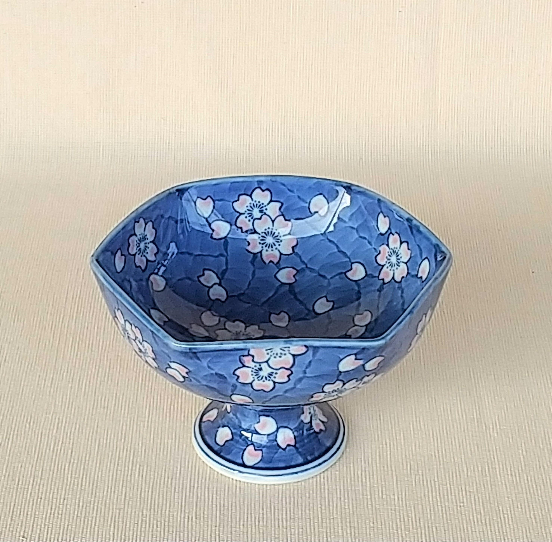 伐太郎窯 外濃色桜 六角高台小鉢