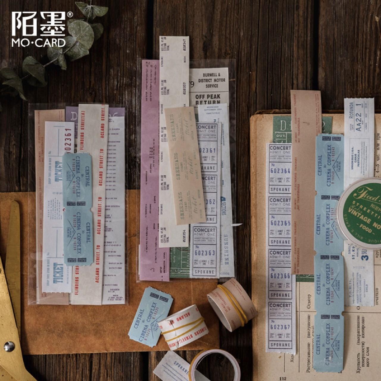 マスキングテープ 全10種 チケット風 レトロ 英字 マステ ほぼ日手帳 コラージュ ジャンクジャーナル E14