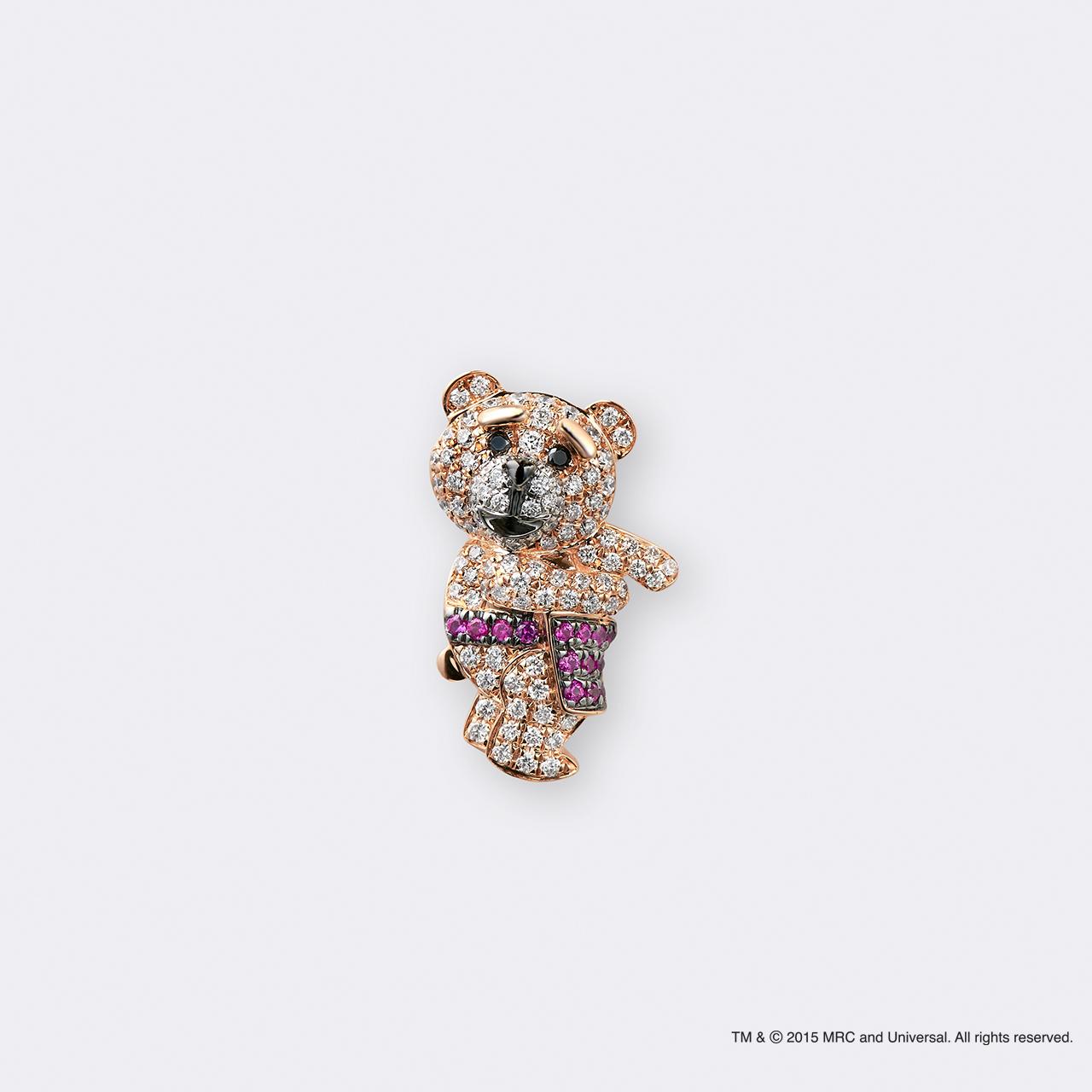 Ted2×BIJOUPIKO (テッド2×ビジュピコ コラボレーションジュエリー)K18PG ピンブローチ エプロン