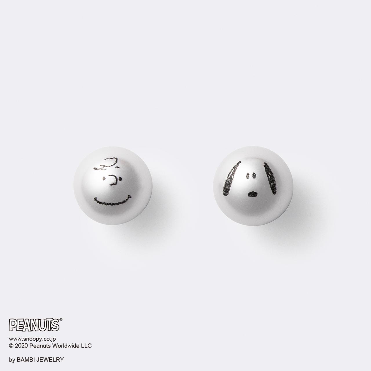 Snoopy&Charlie Brown Pearl Pierce(スヌーピー&チャーリー・ブラウン パールピアス)