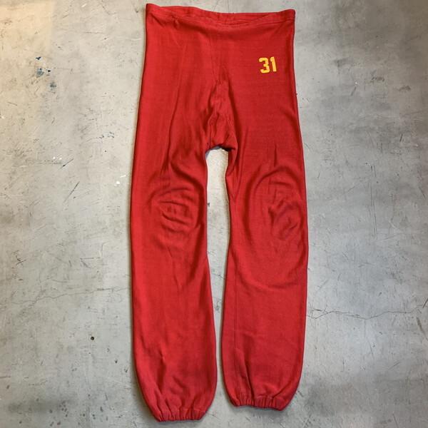 70's 80's Champion チャンピオン リバースウィーブ スウェット パンツ 単色タグ レッド 赤 LARGE オリジナル ナンバリング カレッジ  USA製 希少 ヴィンテージ BA-1194 RM1563H