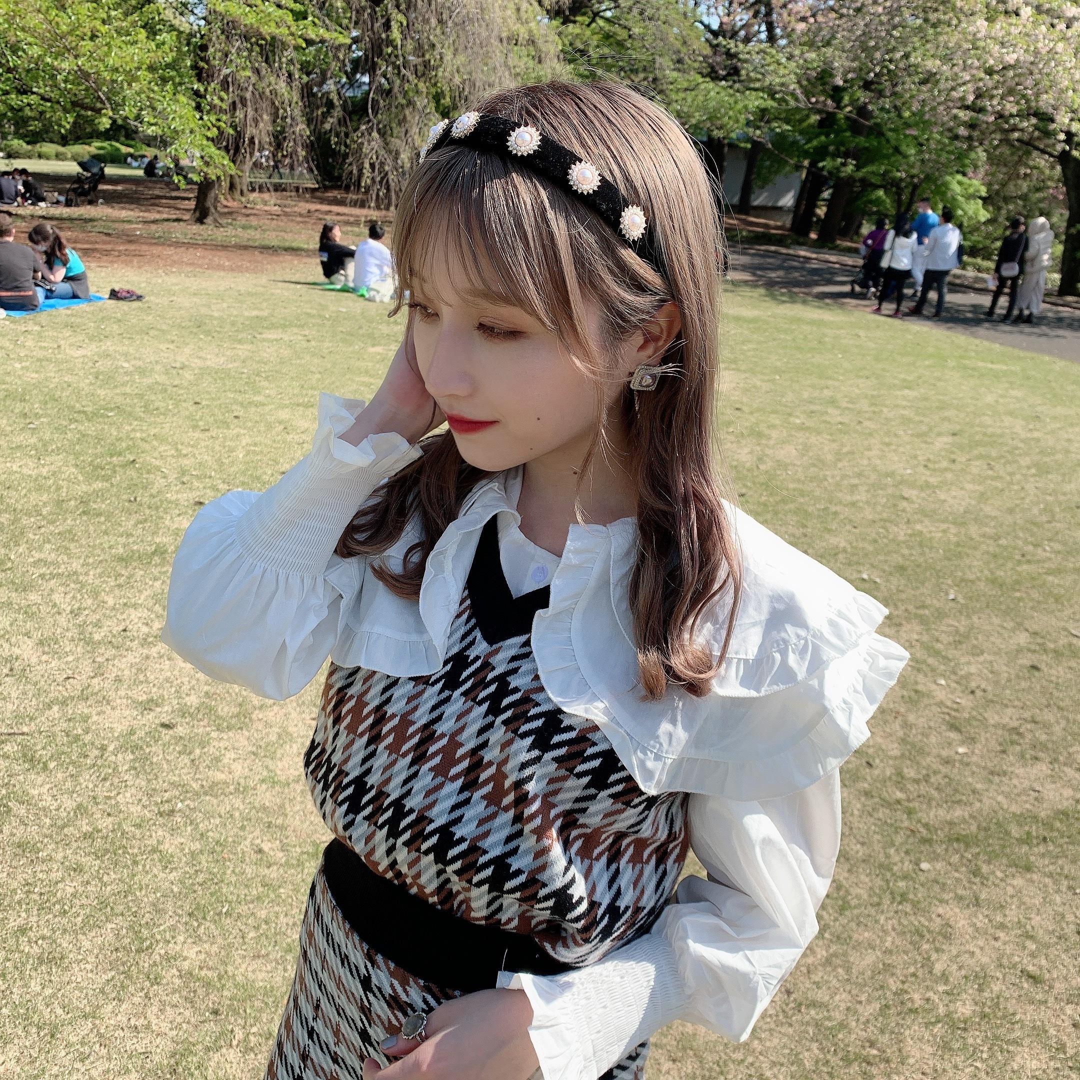 【NEW】check vest set