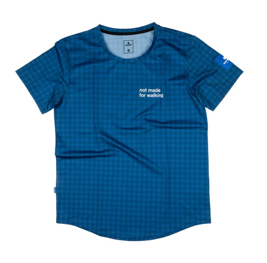 【30%OFF】SAYSKY セイスカイ ランニングTシャツ Checker Combat Tee - BLUE CHECKERBOARD [ユニセックス] FMRSS01