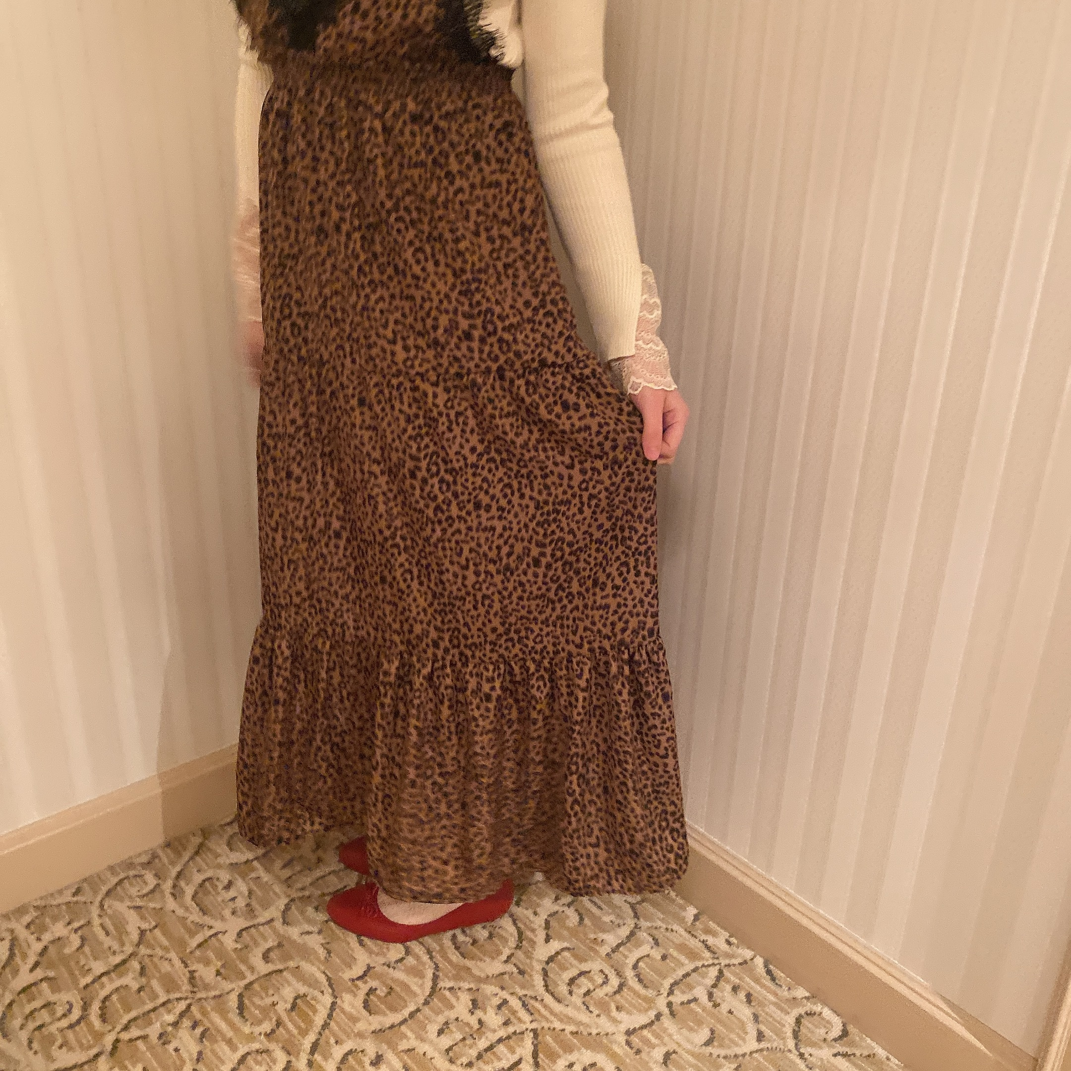 leopard long cami onepiece