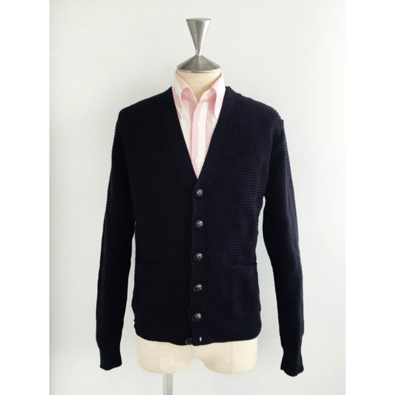 Relco London | Waffle Cardigan - Navy