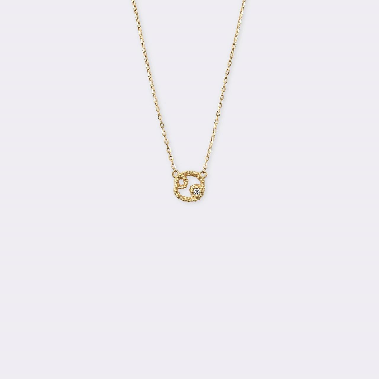 Horoscope Necklace 蟹座 K18YG(ホロスコープネックレス かに座 K18イエローゴールド)