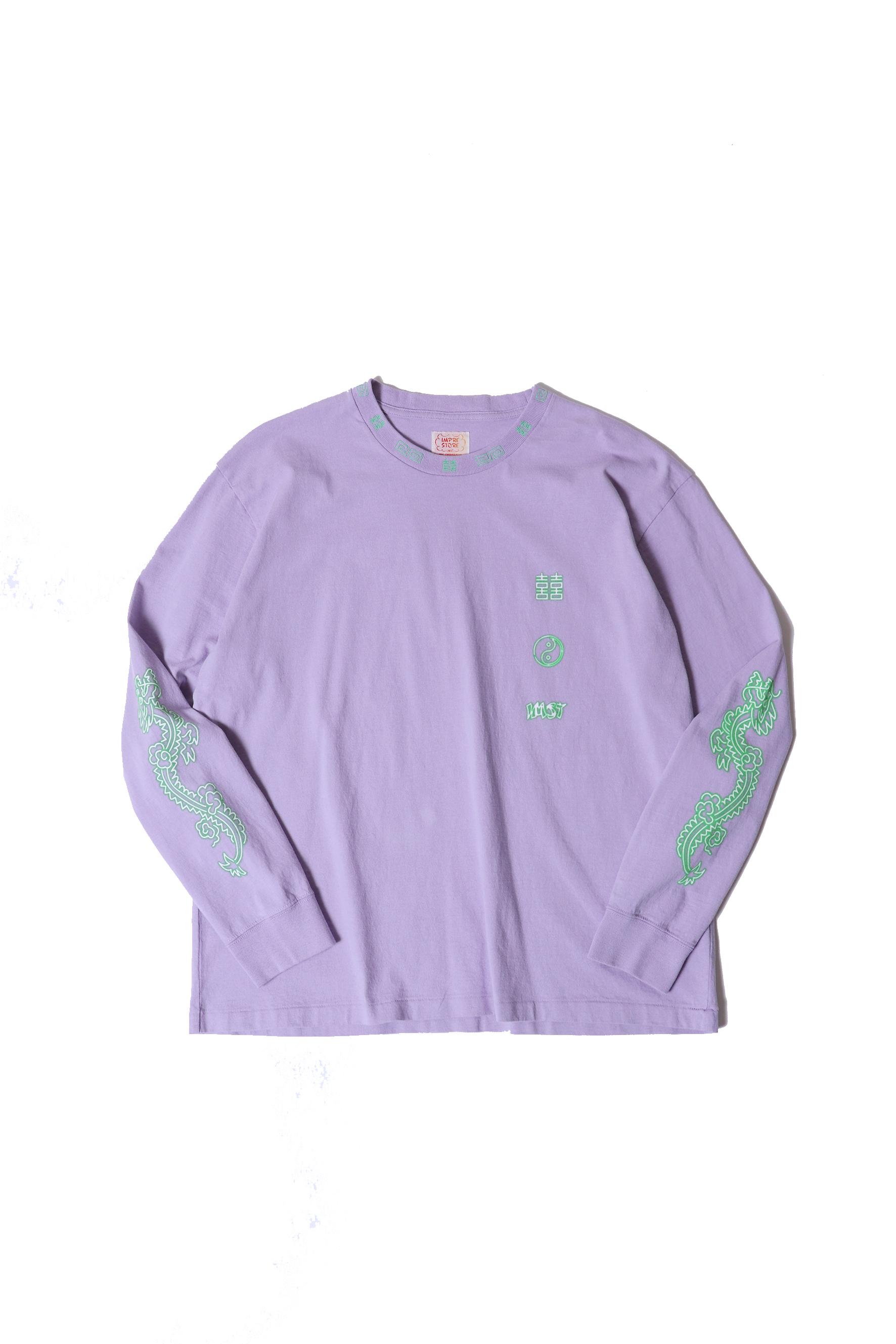 "Original Long Sleeve-T / ""ramen""  / purple"