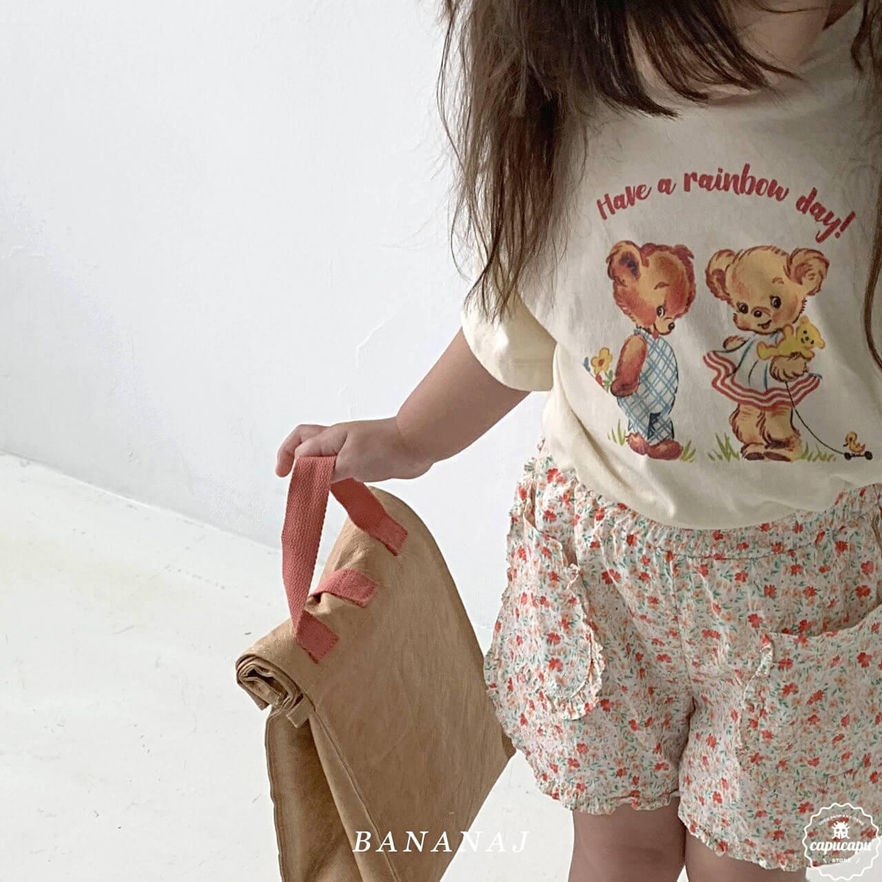 «sold out» banana j bear T shirt 2colors ベアTシャツ