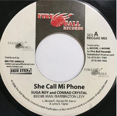 Sugar Roy (シュガーロイ), Conrad Crystal (コンラドクリスタル) - She Call Mi Phone【7'】