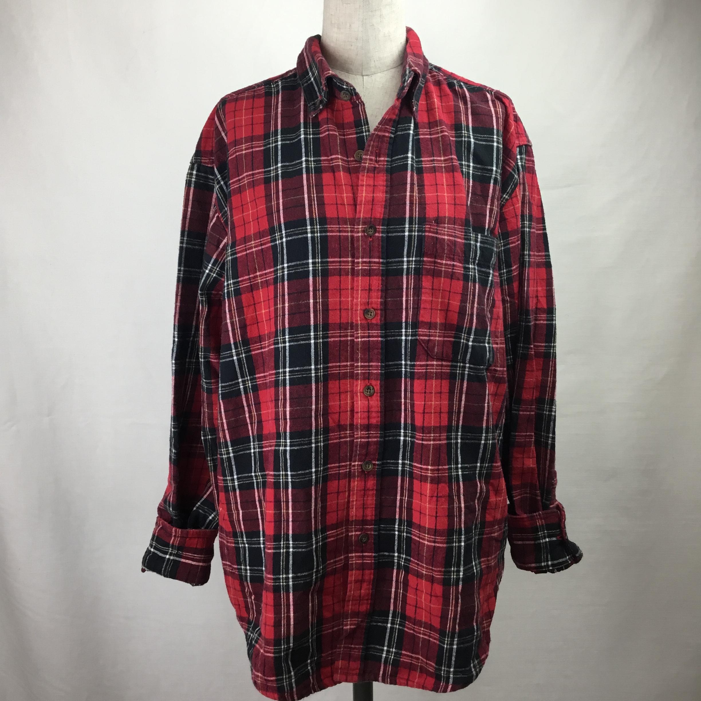 ヴィンテージフランネルシャツ(レッド×ブラック)