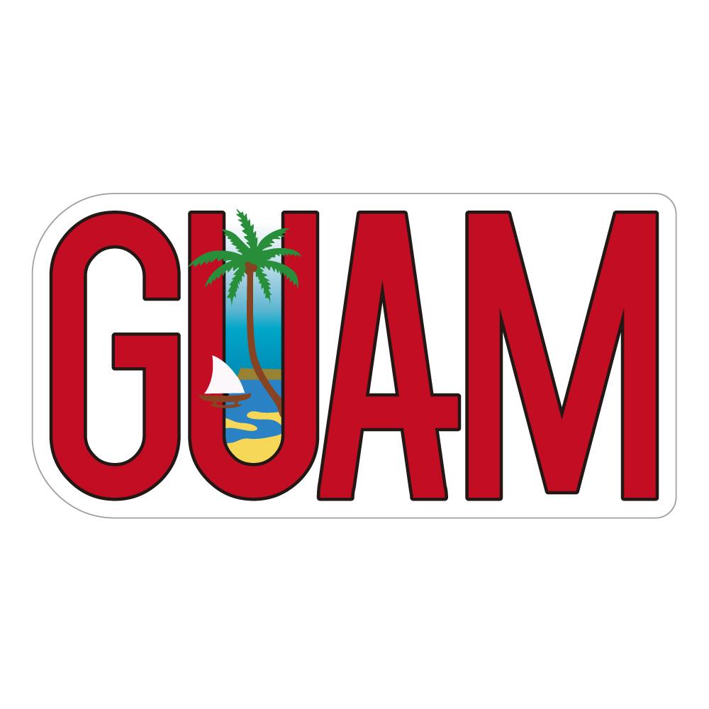 """209 GUAM好き! """"California Market Center"""" アメリカンステッカー スーツケース シール"""