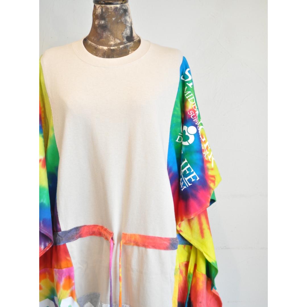 【 RehersalL 】wide Tshirt onepiece(beige 7) /【リハーズオール】ワイドTシャツワンピース(ベージュ7)