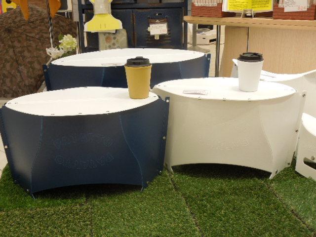 使いたい時に使えるコンパクト折りたたみテーブルパタッとミニ