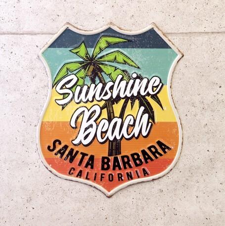 アンティークエンボスプレート[Sunshine Beach]