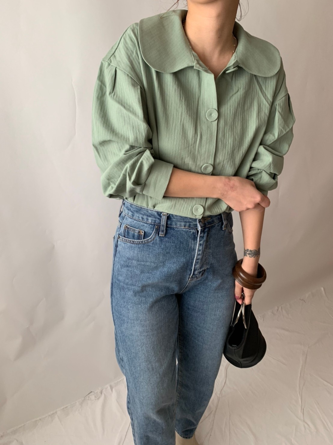 【asyu】maccha blouse