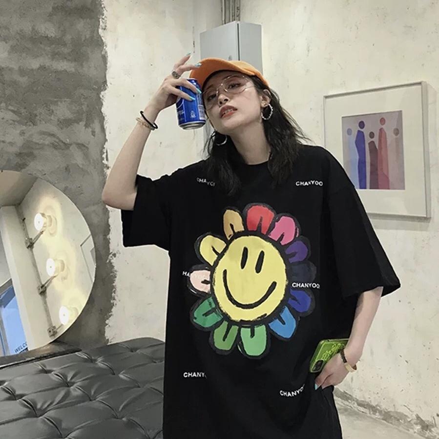 sun flower design t-shirt