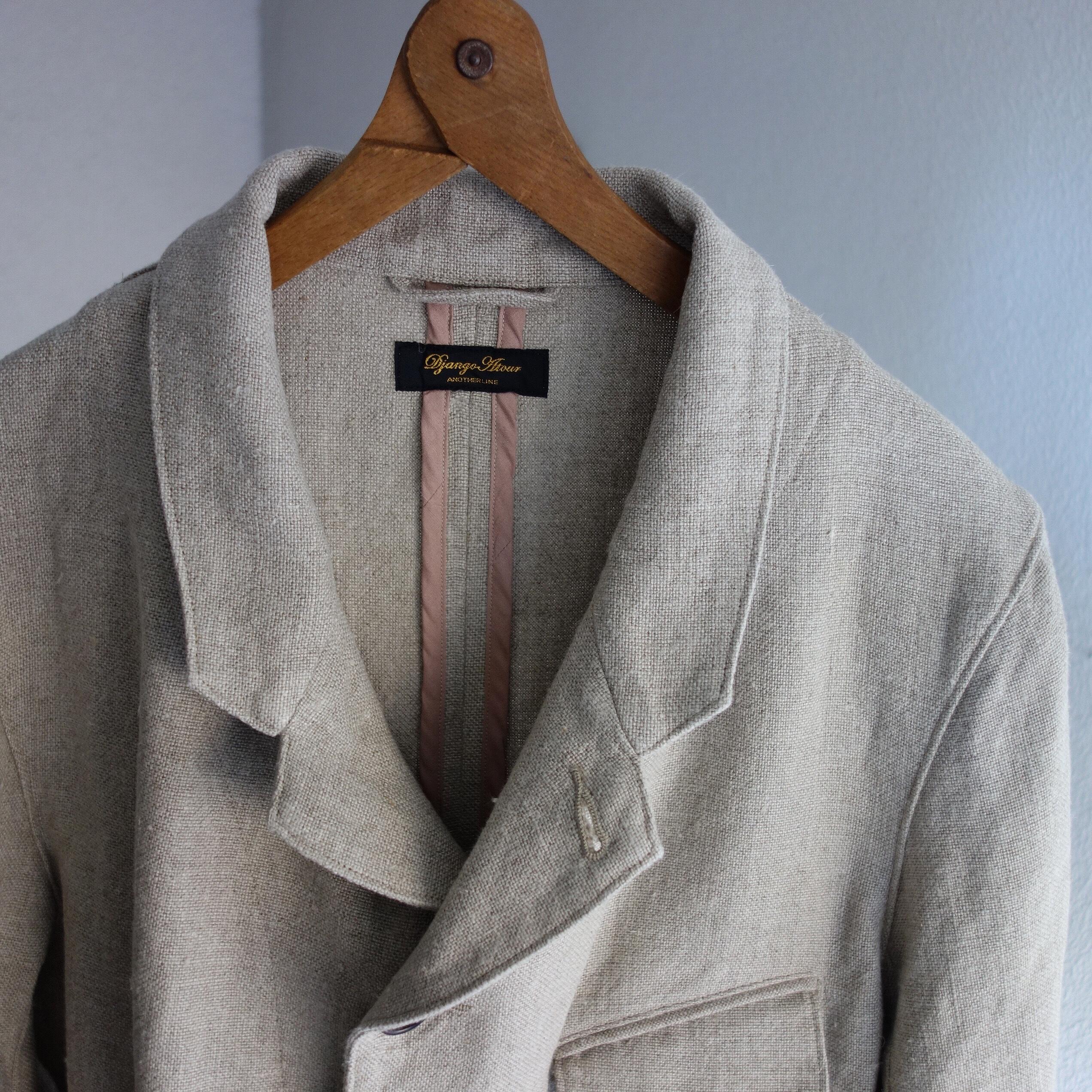 classic farmers heavylinen tailor jkt / ecru