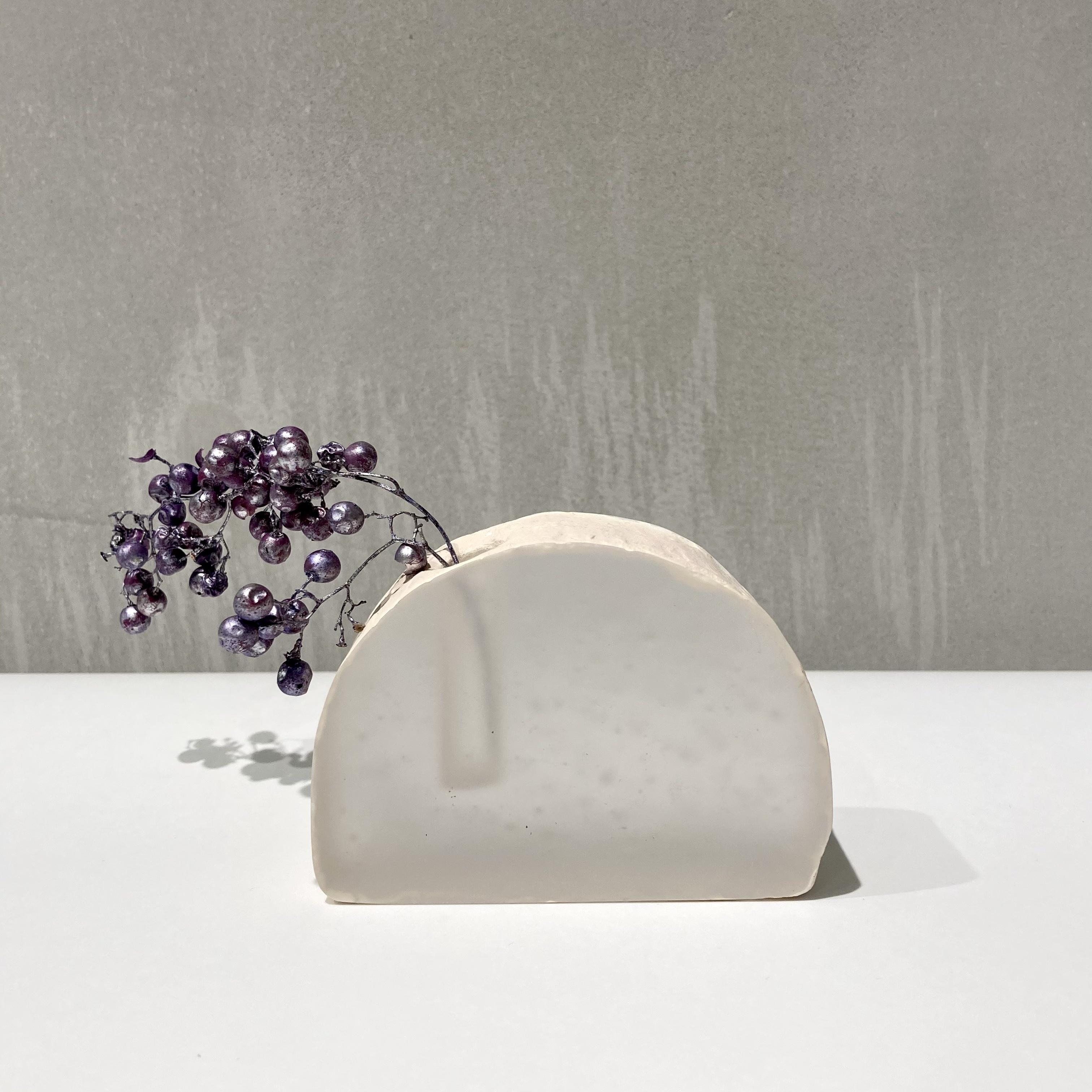 川崎和美 / 花器 白  ドーム