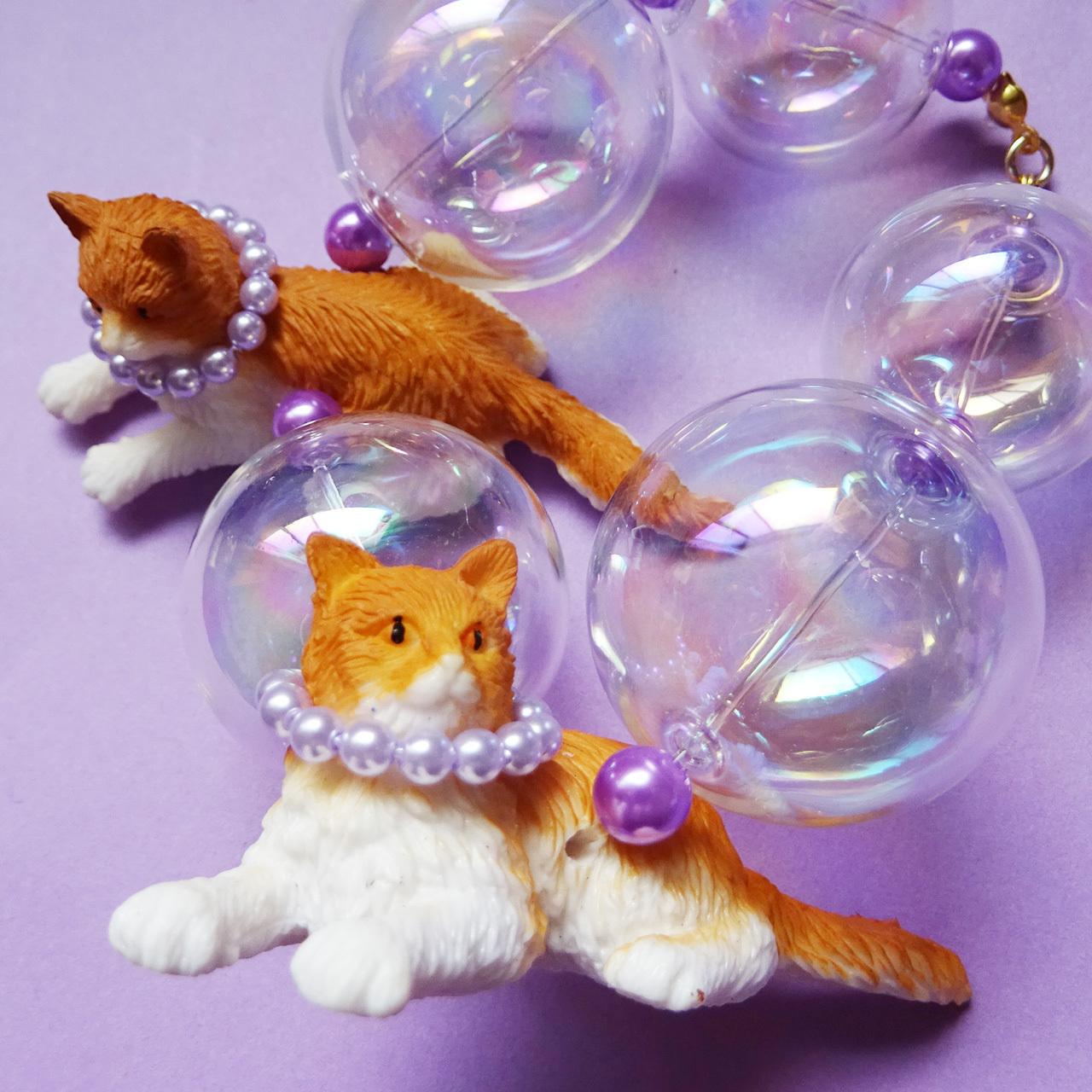 Sedmikrasky セドミックラスキー バブル猫ブレスレット / オレンジ×パープル