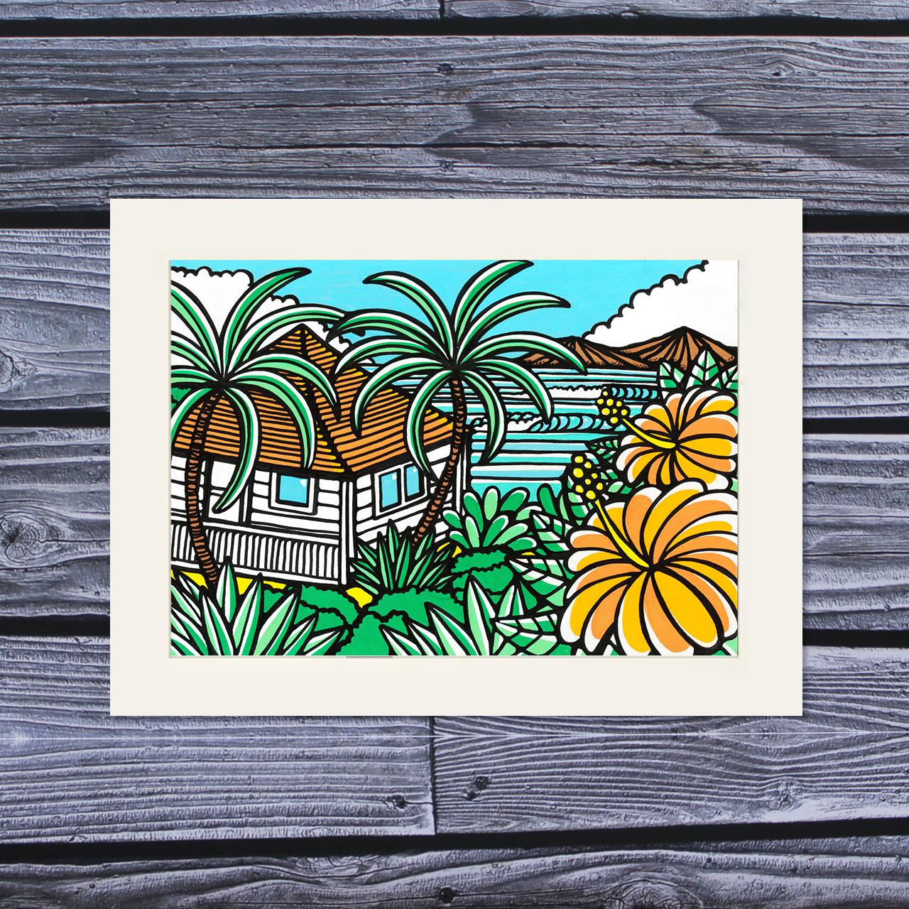 アートプリント A4(Surfers House)