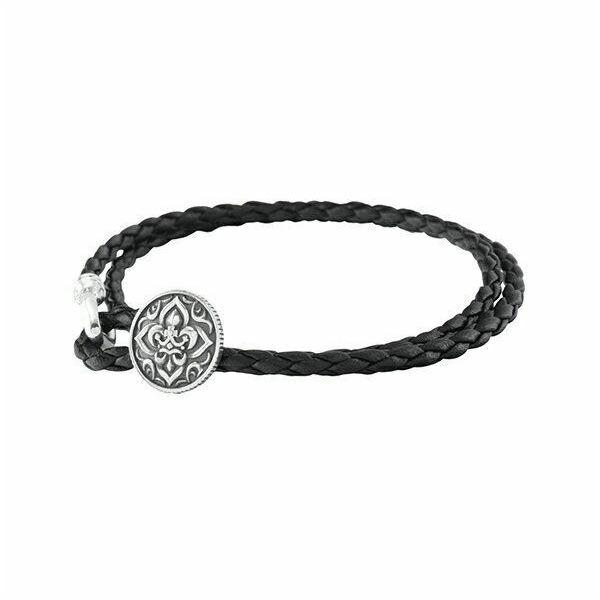 リリィクラウンレザーブレスレット 二重巻きブレス AKB0029 Lily Crown Leather Bracelet Double Wrap Breath
