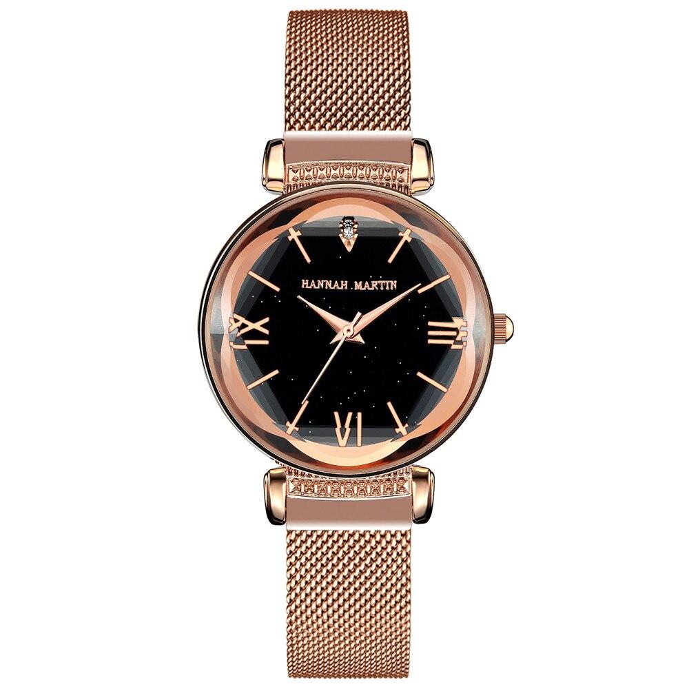 新日本MIYOTAムーブメントレディース高品質ブライトパープルステンレススチールマグネットメッシュ腕時計防水RelogioFemininoD8-F