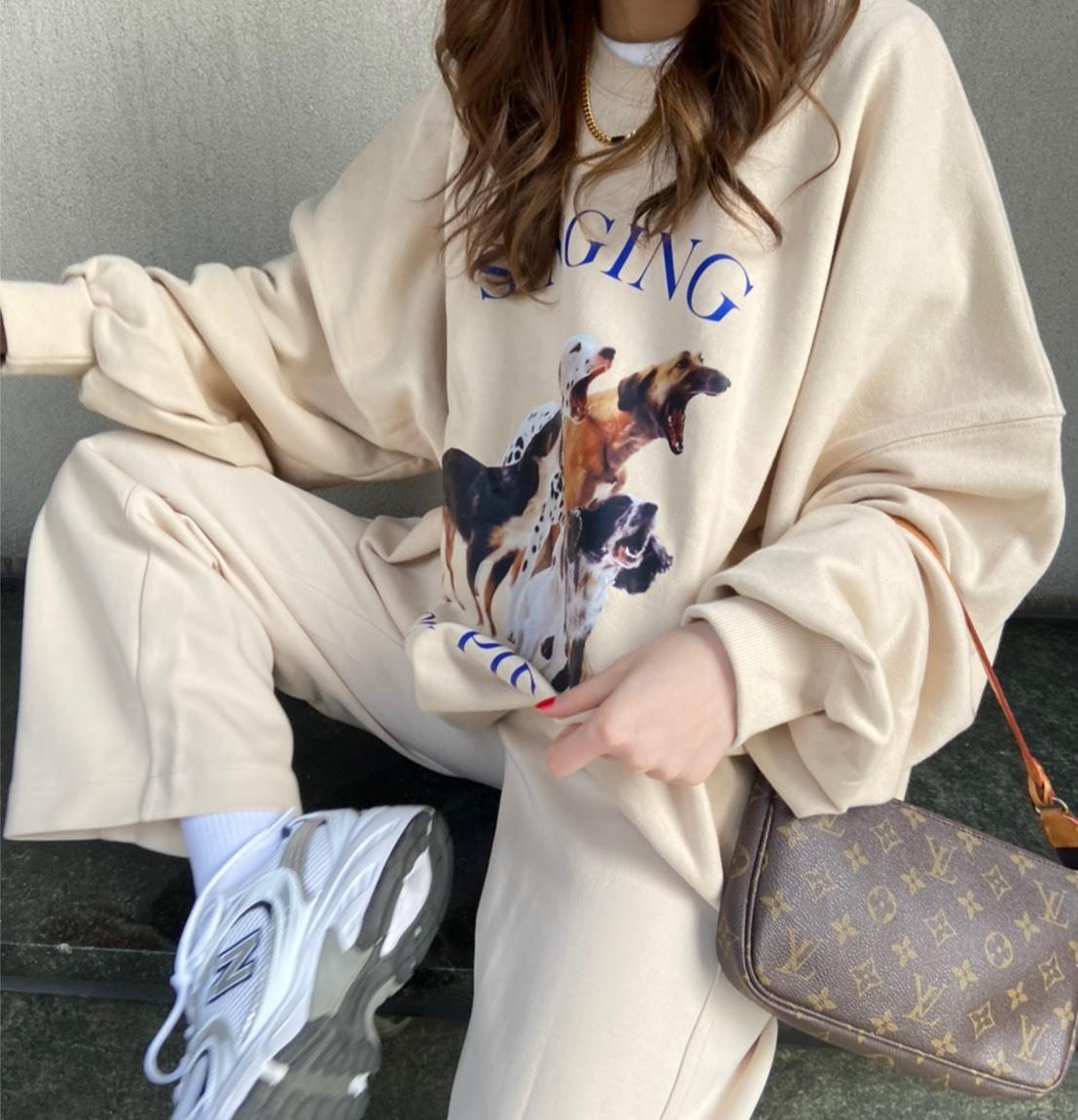 【5/9締予約】DAYNYC puppy sweat(beige)