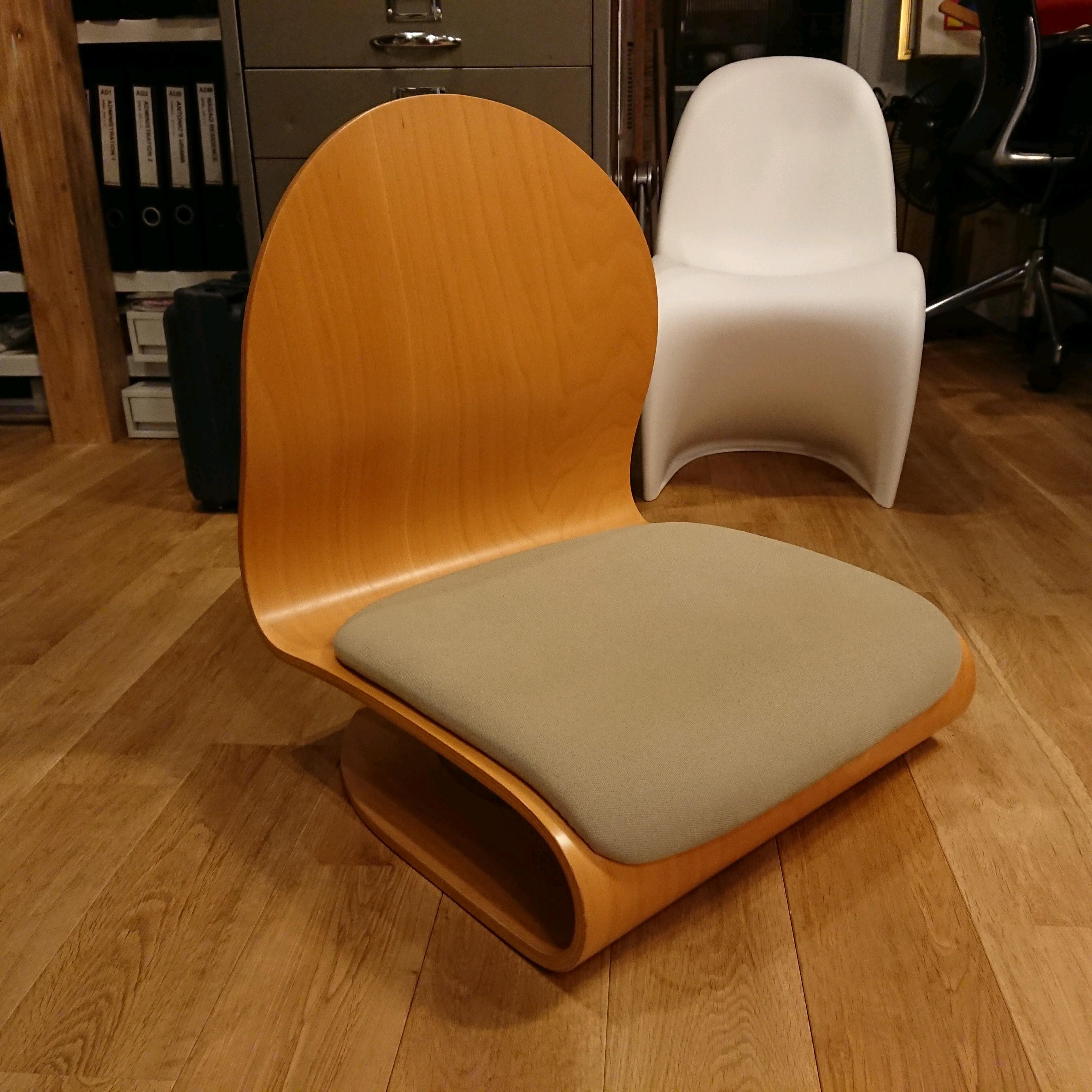 """ヴェルナー・パントン """"Tatami Chair/タタミチェア"""" プライウッド 興石 Verner Panton スペースエイジ×和モダン"""