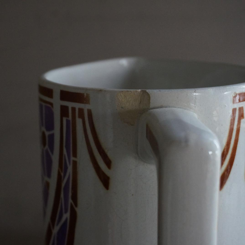 古いフランスの大きな陶器ピッチャー