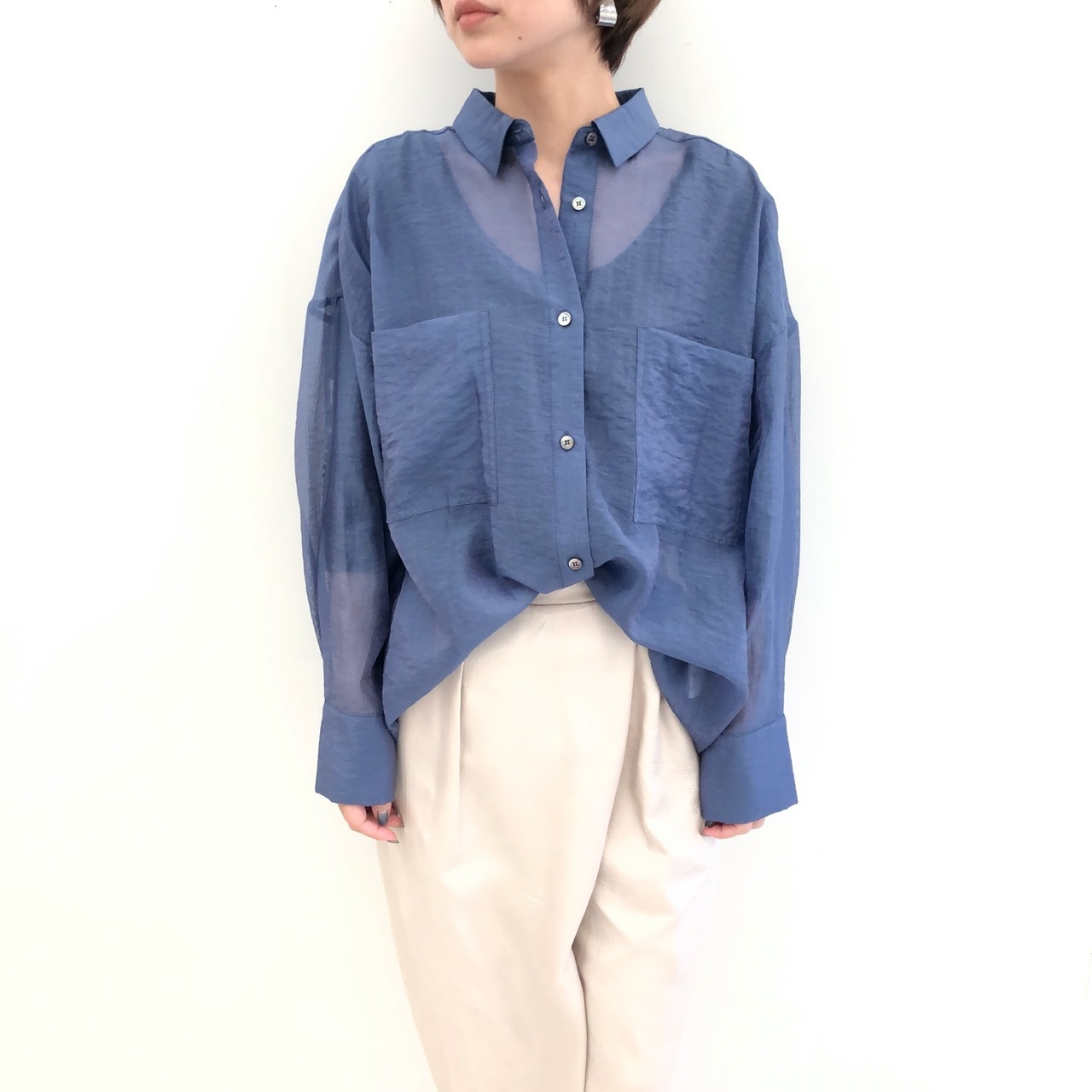【 CHIGNONSTAR 】- 1692-437 - シアーシャツ