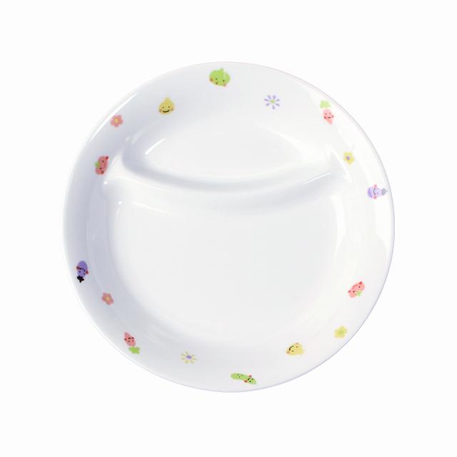 強化磁器 17.1cm 仕切皿 ぷちやさい【1934-1230】