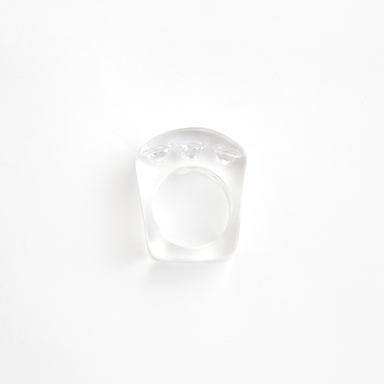 JUTIQU/Timeless Ring 4_7mm zirconia×3