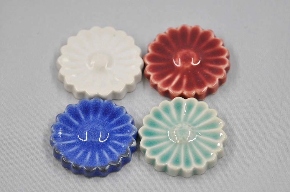 菊彫  箸置き  4colors